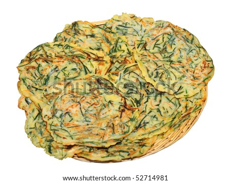 korean pancake - stock photo