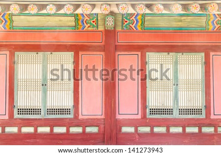 korean tradition wall - stock photo