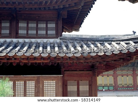 Korean Traditional Architecture - stock photo