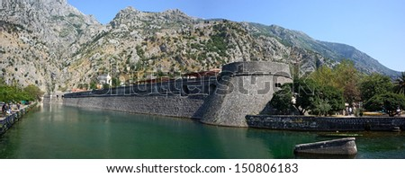 Kotor ancient walls - Montenegro  - stock photo
