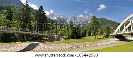 kranjska gora - stock photo
