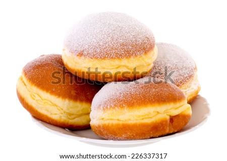 Krapfen Berliner Pfannkuchen Bismarck Donuts - stock photo