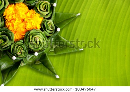 kratong Festival in Thailand, on white background - stock photo
