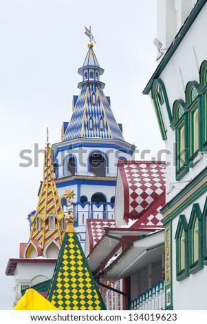 Kremlin in Izmailovo, Moscow, Russia - stock photo