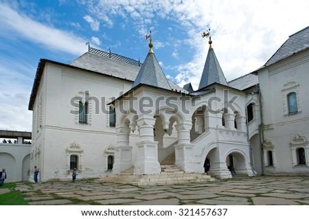 Kremlin of ancient town of Rostov Veliky.Russia - stock photo