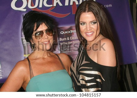 Kris Jenner and Khloe Kardashian at the 5th Annual Miss Malibu Pageant. Private Residence, Malibu, CA. 08-23-09 - stock photo
