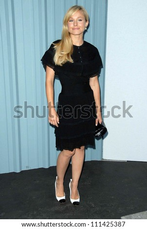 Kristen Bell at the 2007/2008 Chanel Cruise Show Presented by Karl Lagerfeld. Hanger 8, Santa Monica, CA. 05-18-07 - stock photo