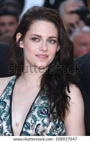 Kristen Stewart arriving for the 'On the Road' premiere during the 65th Cannes Film Festival, Cannes, France. 23/05/2012 Picture by: Henry Harris / Featureflash - stock photo