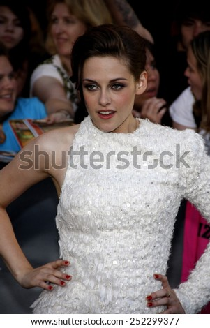 "Kristen Stewart at the ""The Twilight Saga: Eclipse"" Los Angeles Premiere held at the Nokia Live Theater in Los Angeles, California, United States on June 24, 2010.  - stock photo"