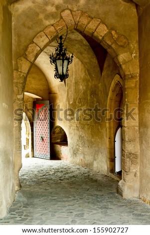 Krivoklat Castle in Czech Republic - stock photo