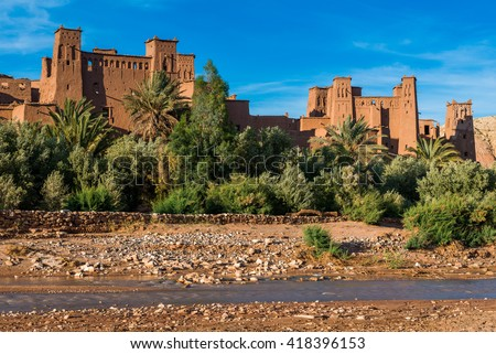 Ksar of Ait Ben Hadu, Morocco - stock photo