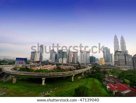 Kuala Lumpur city - stock photo