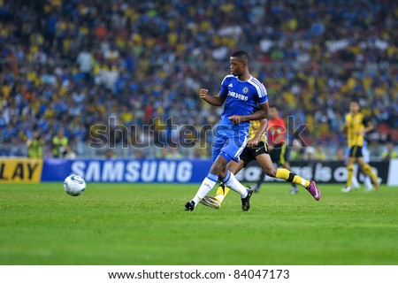 KUALA LUMPUR, July 21 : Chelsea's nathaniel chalobah in action during a preseason match agains Malaysia on July 21, 2011 in Kuala Lumpur, Malaysia. Chelsea won 1-0 - stock photo