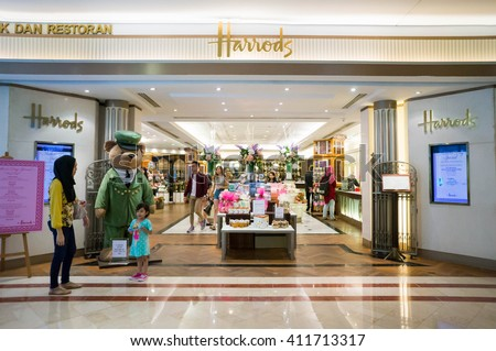 KUALA LUMPUR, MALAYSIA - April 10, 2016: A retail outlet for Harrods at Suria KLCC. Harrods is the biggest department store in Europe. - stock photo