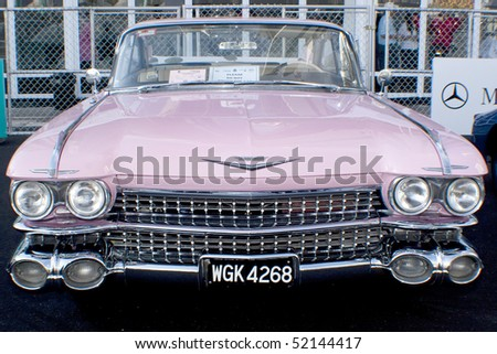 KUALA LUMPUR, MALAYSIA - MARCH 27 : A Cadillac on display during the 8th KL Vintage and Classic Car Concourse at Petronas Pit Pulse KLCC March 27, 2010 in Kuala Lumpur, Malaysia. - stock photo