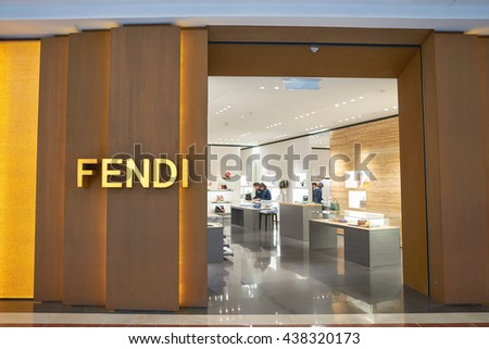 KUALA LUMPUR, MALAYSIA - MAY 09, 2016: Fendi store in Suria KLCC. Suria KLCC is located in the Kuala Lumpur City Centre district. It is in the vicinity of the landmark the Petronas Towers. - stock photo