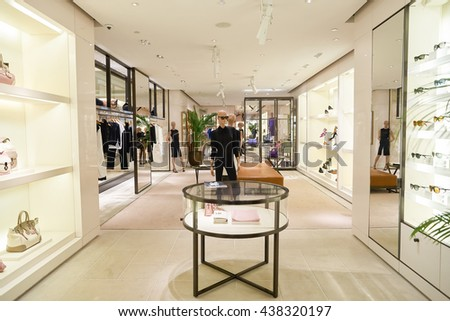 KUALA LUMPUR, MALAYSIA - MAY 09, 2016: inside of Ralph Lauren store at Suria KLCC. Suria KLCC is a shopping mall is located in Kuala Lumpur, in the vicinity of the landmark the Petronas Towers. - stock photo
