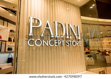 KUALA LUMPUR, MALAYSIA - MAY 27, 2016: Padini shop at Sunway Pyramid mall. Padini Group is a leader in the textile and garment industry in Malaysia - stock photo