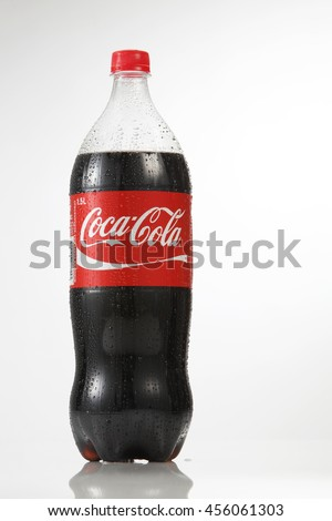 Kuala Lumpur Malaysia,18th July 2016, 1.5 litre cocacola drinks on the white background - stock photo