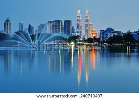 Kuala Lumpur night Scenery - stock photo