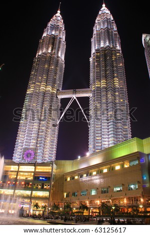 KUALA LUMPUR - OCTOBER 14: Exterior of Suria KLCC on October 14, 2010 in Kuala Lumpur, Malaysia. Suria KLCC is the ultimate luxury shopping destination in Malaysia. - stock photo