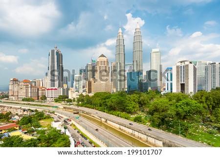 Kuala Lumpur Skyline, Malaysia. - stock photo