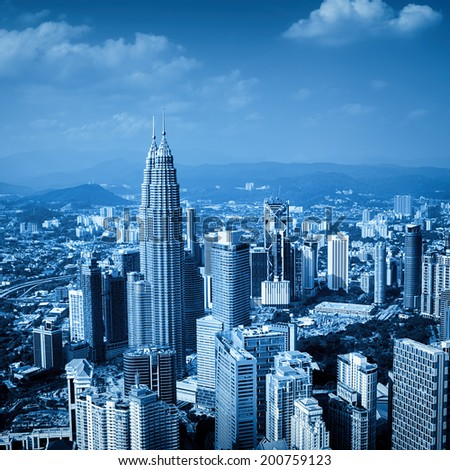 Kuala Lumpur skyline. (Malaysia) - stock photo