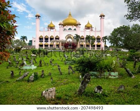Kuching City Mosque in Kuching, Sarawak, Malaysia.  - stock photo