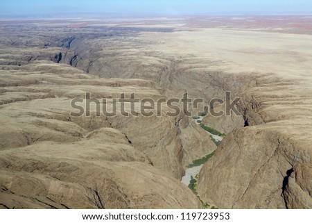 Kuiseb river canyon. Desert of Namib. Namibia - stock photo