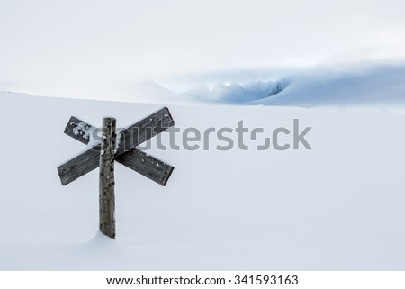 Kungsleden in the wintertime - stock photo