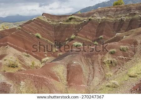 Kurdistan landscape - stock photo