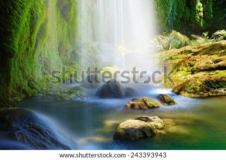 Kursunlu Waterfalls in Antalya, Turkey - stock photo