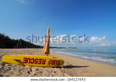 Kuta beach, Bali, Indonesia - stock photo