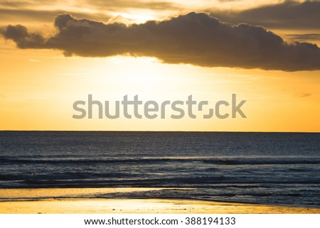 Kuta Beach sunset, Bali , Indonesia - stock photo