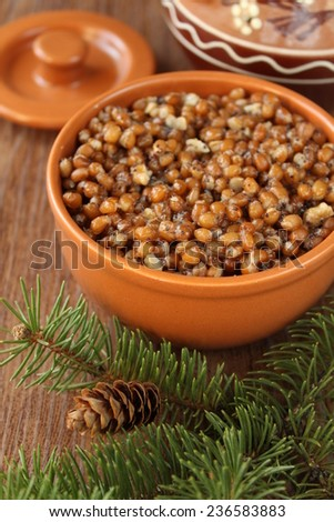 kutia, traditional Christmas dish - stock photo