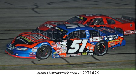 Kyle Busch at Madison International Speedway opener May 4, 2008 - stock photo