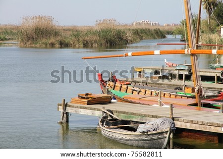 La Albufera nature reserve, El Palmar, Valencia, Comunidad Valenciana, Spain - stock photo