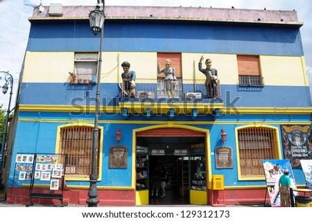 La Boca,Caminito,Buenos Aires Argentina - stock photo