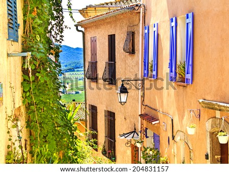 La Cadiere d'Azur - small town in the Var region, French Riviera, France - stock photo