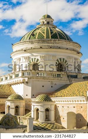 La compania church domes Quito Ecuador South America - stock photo