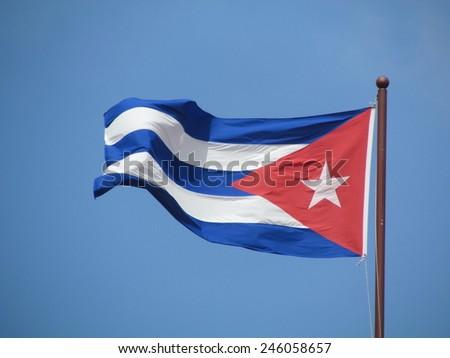 La Havana, Cuba, flag  - stock photo