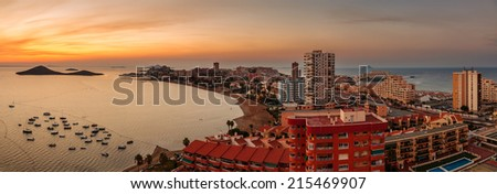 La Manga del Mar Menor Skyline, Murcia, Spain - stock photo