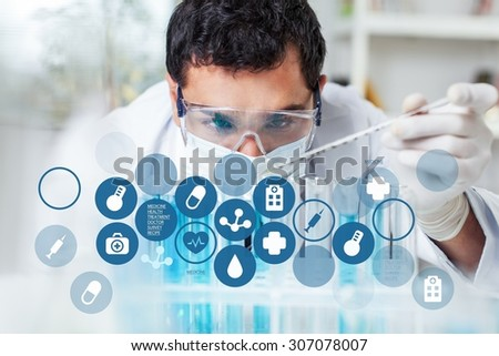 Lab. - stock photo