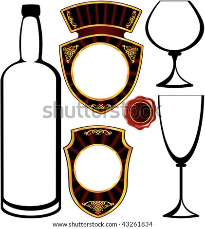 label for alcoholic beverages - stock photo