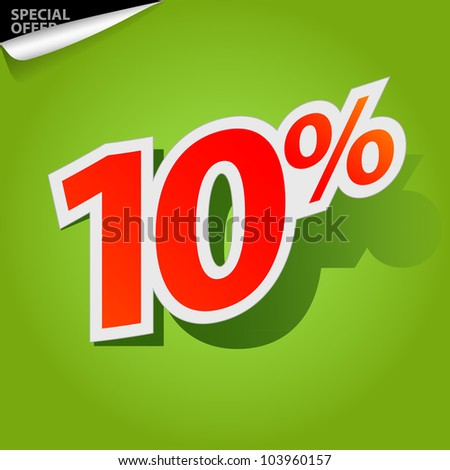 Label for special offers and sales discount - stock photo
