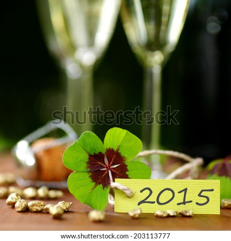 Label: New year 2015 - stock photo
