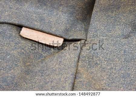 label on a vintage bag - stock photo