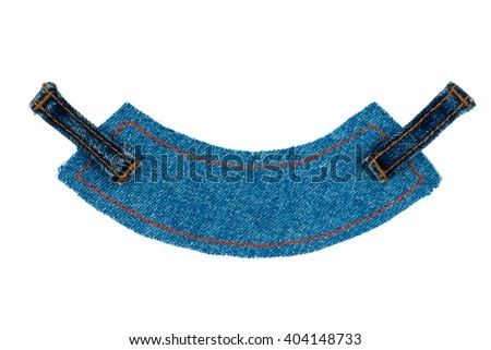 Label, price tag with two straps jeans , isolated on white background - stock photo