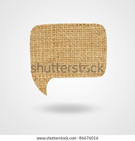 Label sackcloth for your text - stock photo