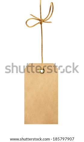 label (tag) isolated on white background - stock photo